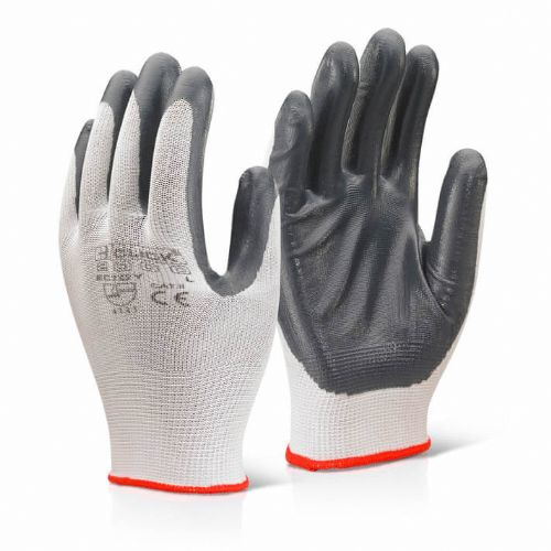 Click 2000 Nitrile Palm Polyester Gloves - 100 Pairs